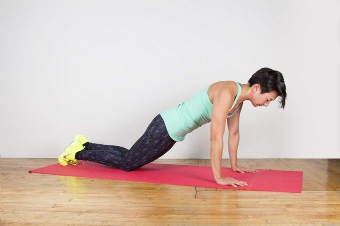 plank de rodilla