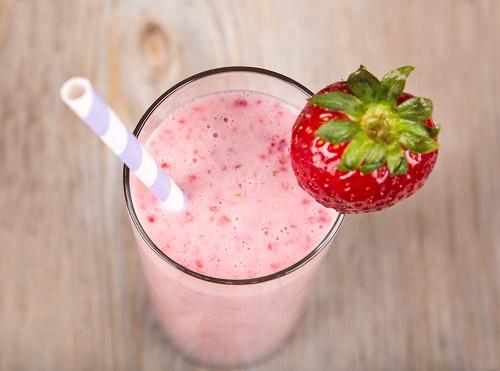 Perder peso licuado de fresas