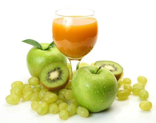 hígado dañado Jugos de manzana