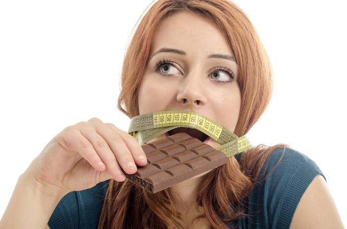 Perder peso chocolate negro