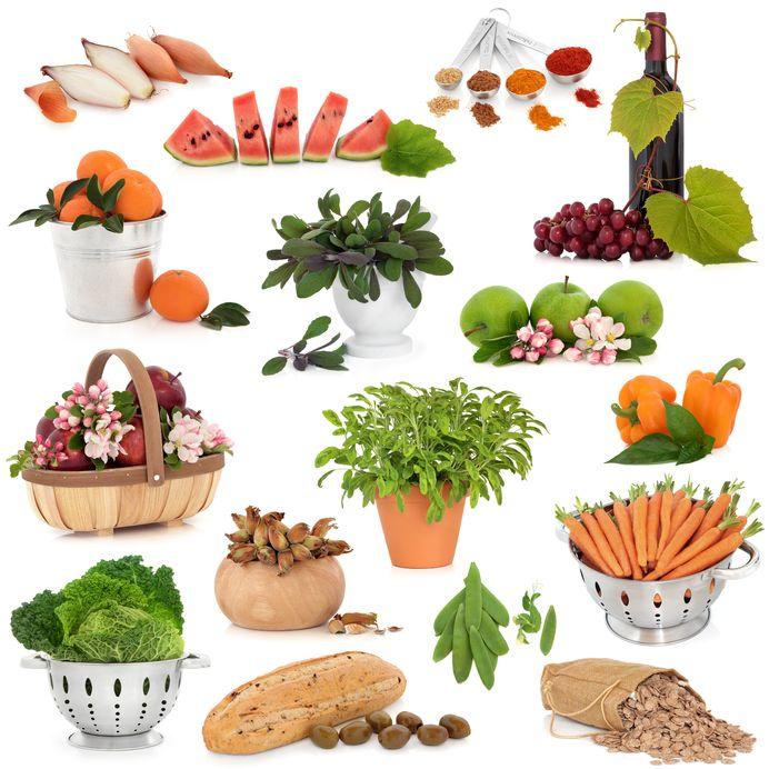 Una lista de alimentos que contienen antioxidantes