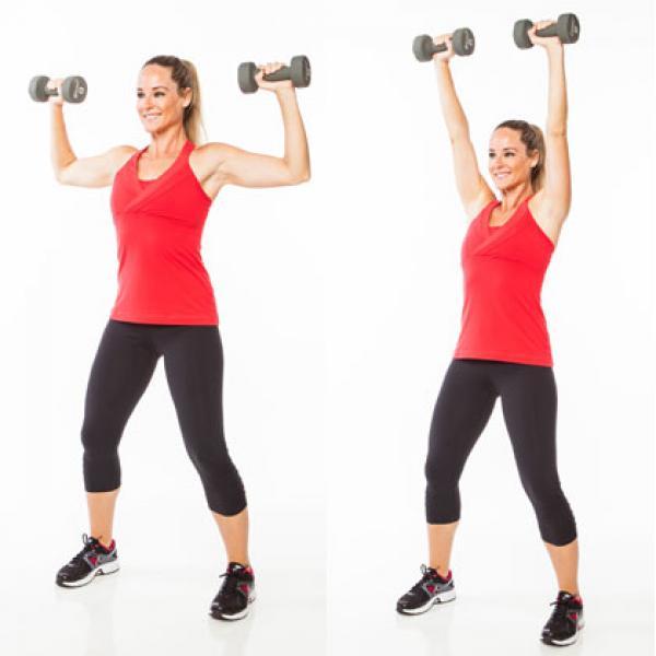 ejercicios con mancuernas para tríceps hacia arriba