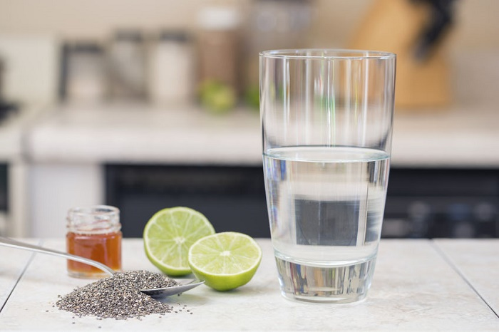 bebida con semillas de chía