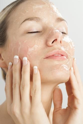 bicarbonato de sodio Exfoliando la cara