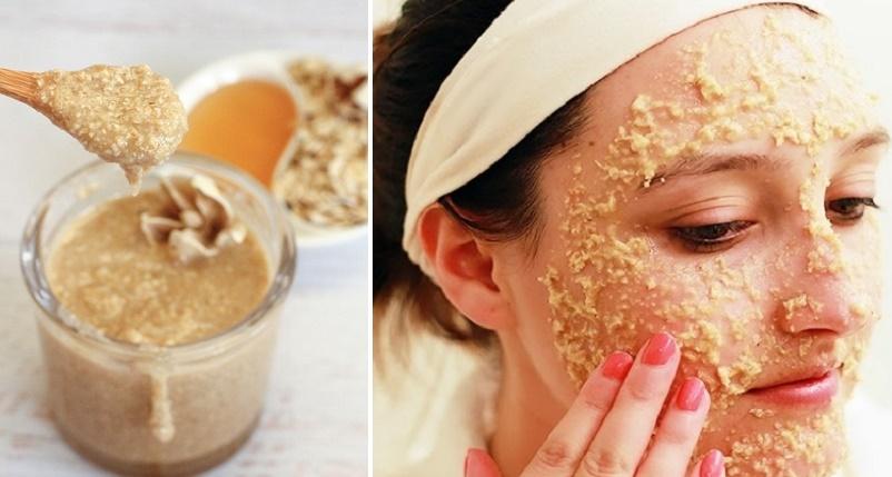 para que sirve la avena con miel en el rostro