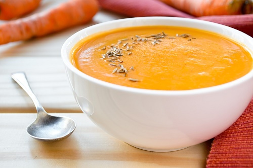 Sopa crema cúrcuma