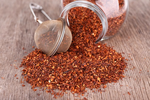 Hierba del té rojo para preparar una infusión