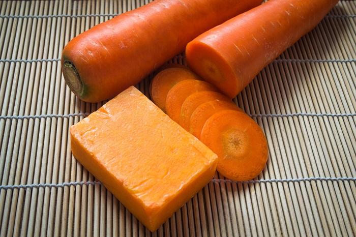 jabón casero de zanahoria