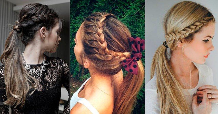 Mujeres que llevan diferentes peinados con trenzas