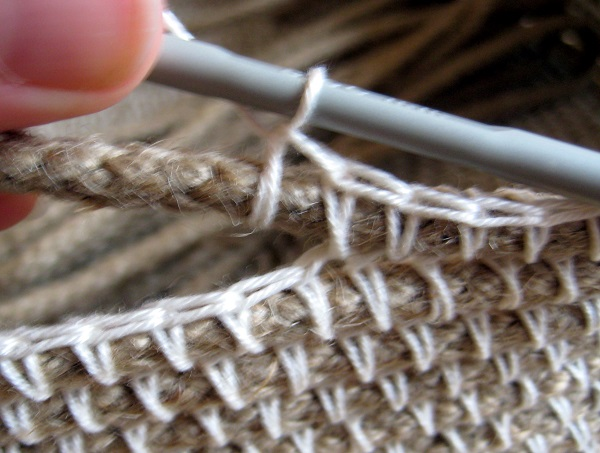 terminación canasta a crochet
