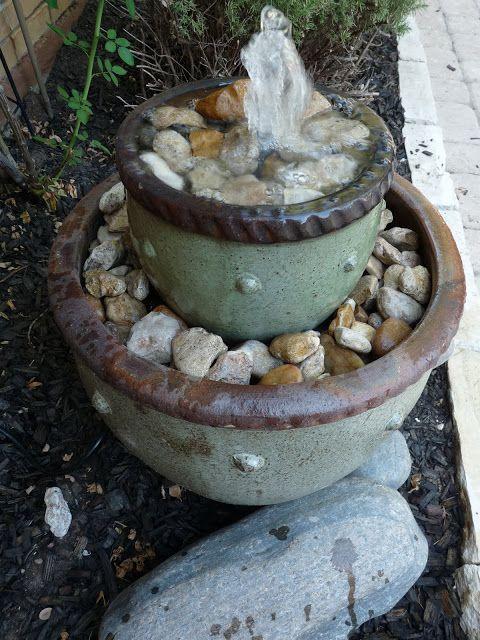 fuentes jardín decorativos