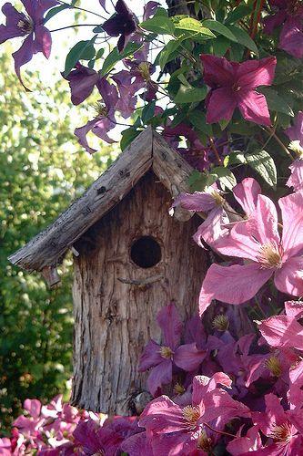 casa para pájaros decorativos jardín