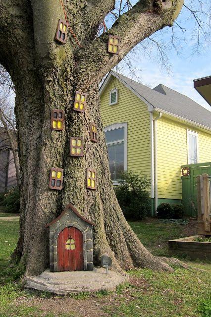 árbol jardín elementos decorativos