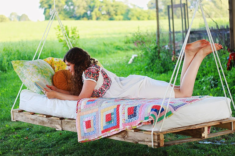 cama-hamaca jardín