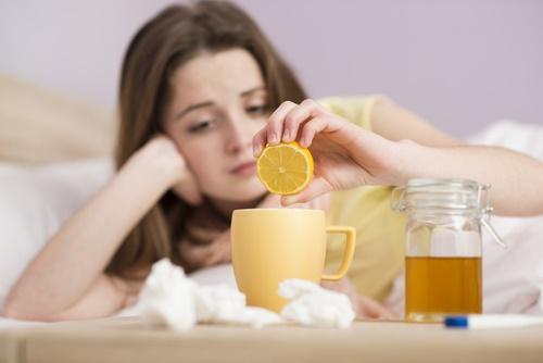 Resfriado miel limón gripa fiebre