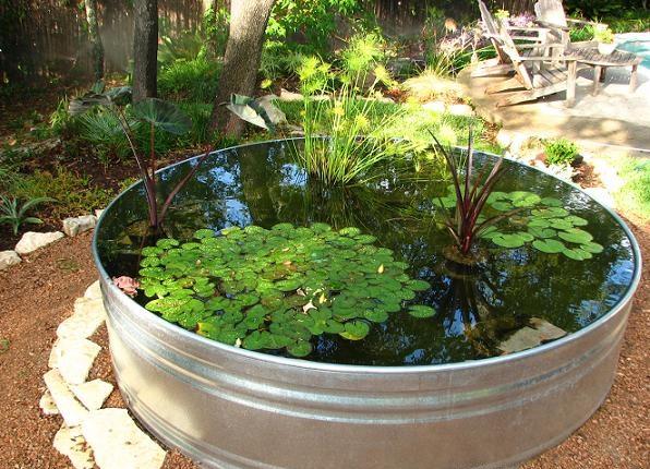 estanque elementos jardín