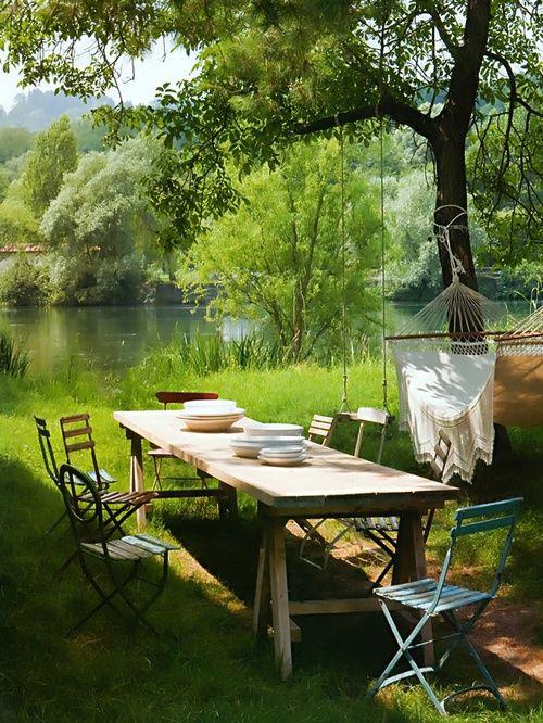 mesa de jardín elementos