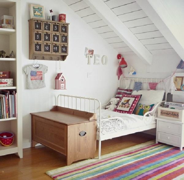Habitación para niño con motivos campireños