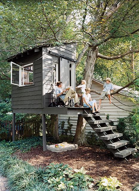 casa del árbol elementos decoración