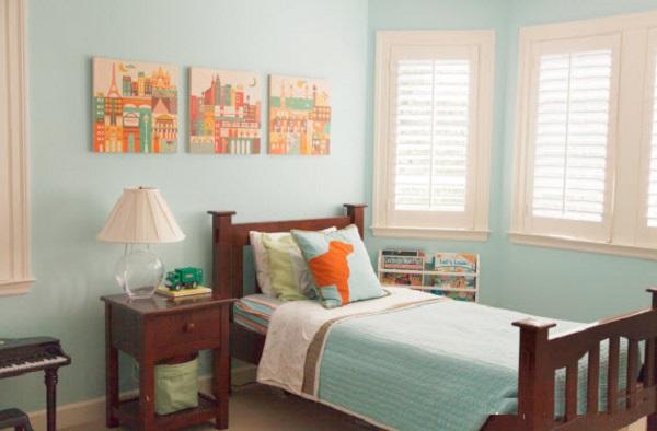 20 ideas de habitaciones para ni os y ni as - Color habitacion nino ...