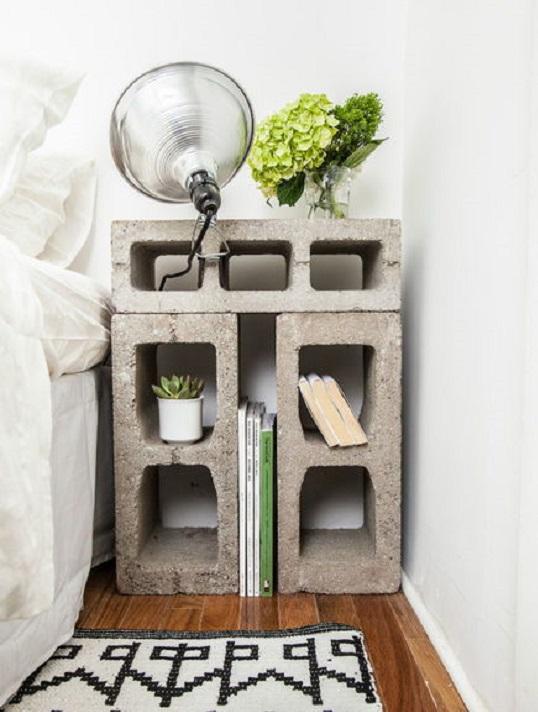 22 diseños funcionales de decoración con bloques de concreto