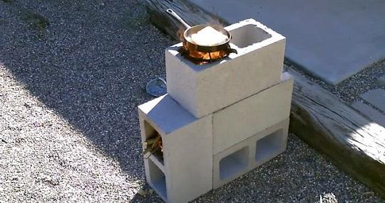 blocks de concreto estufa