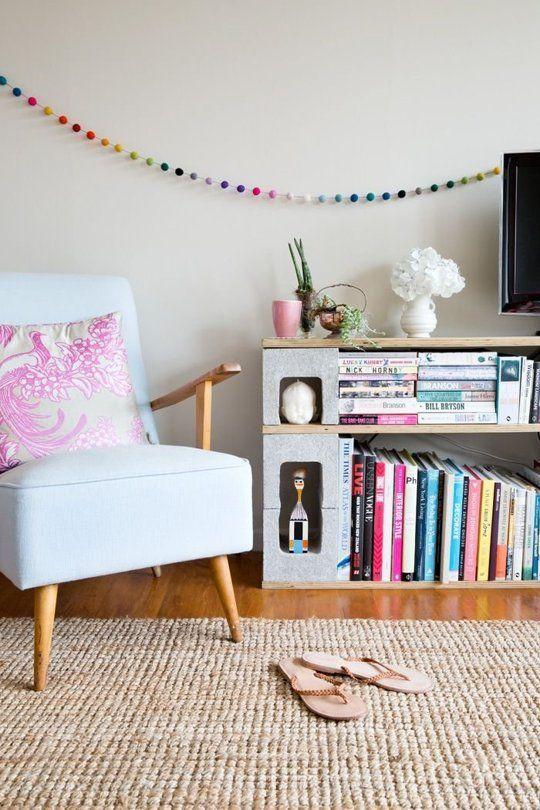 mueble de hormigón para tv