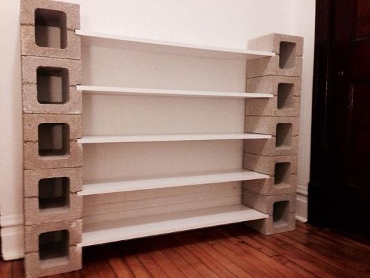22 dise os funcionales de decoraci n con bloques de concreto for Mueble de 5 repisas