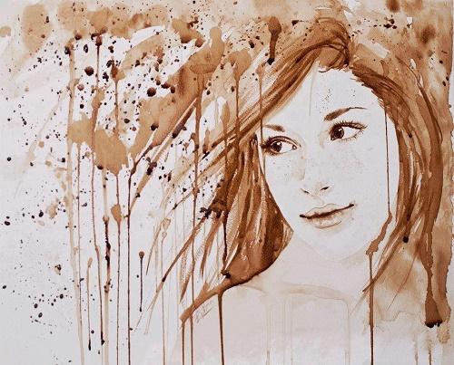 arte con café molido