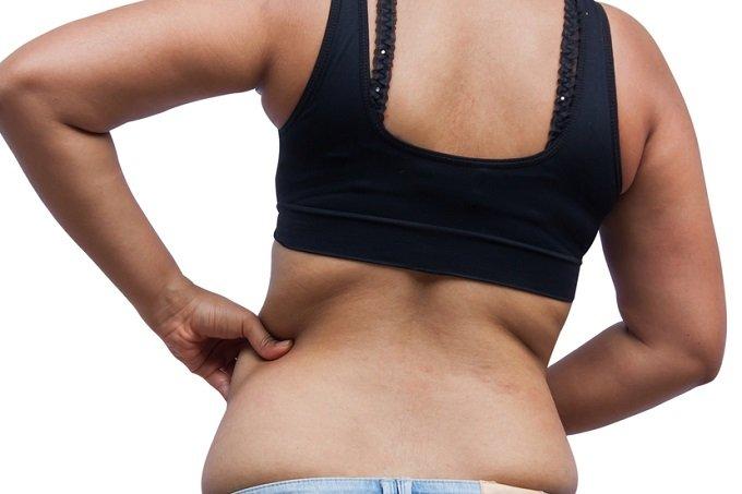 grasa en diferentes partes del cuerpo