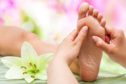 puntos sensibles del pie