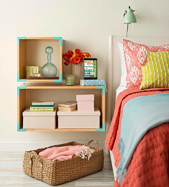 20 ideas de decoraci n con mesita de noche for Ideas para el hogar espacios pequenos