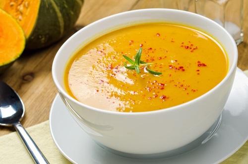 sopa de canela y calabaza
