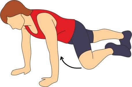 hombre araña ejercicio para espalda