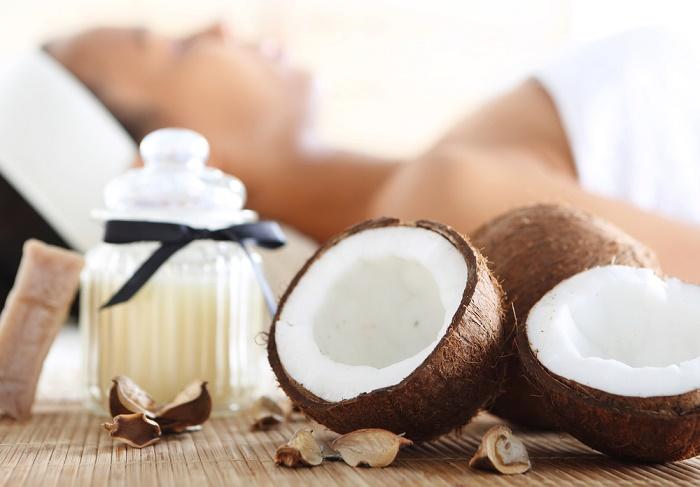 Aceite de coco piel