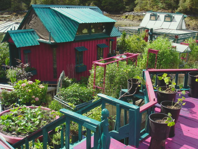 jardín sostenible