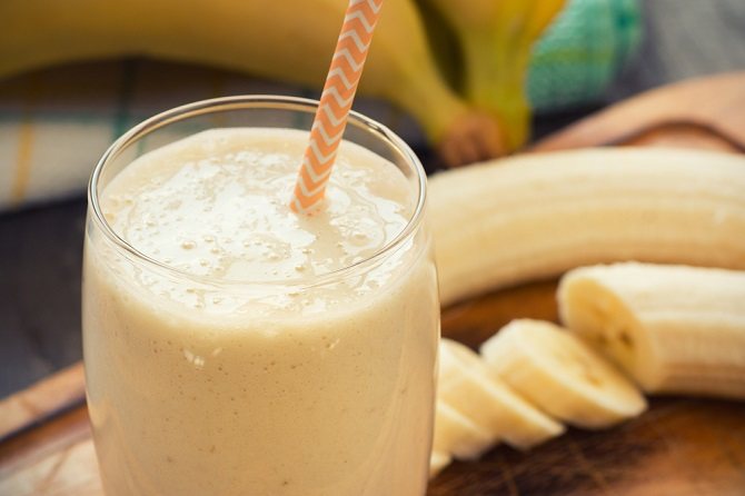 batido de plátano para bajar de peso