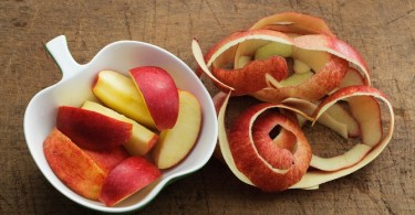 cáscaras de manzana para bajar de peso