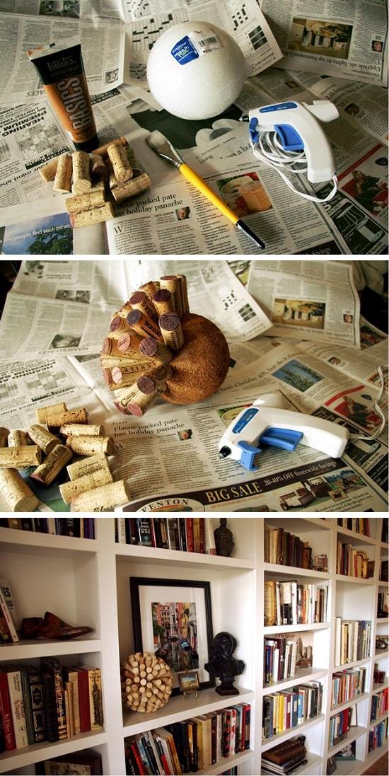 arreglo decorativo de corcho
