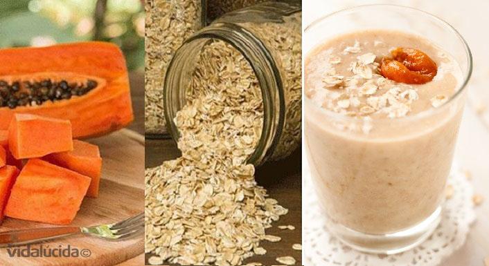 Licuado para la diabetes y colesterol de papaya con avena