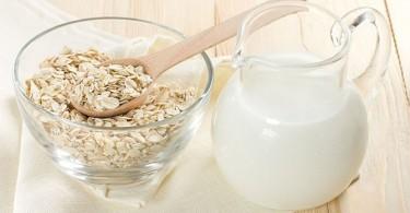 mascarilla antiacné de avena y leche