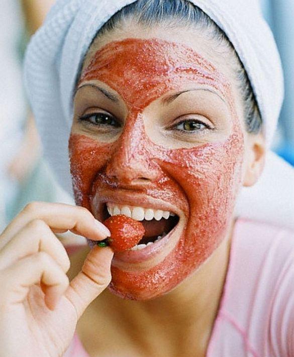 mascarilla antienvejecimiento con fresas