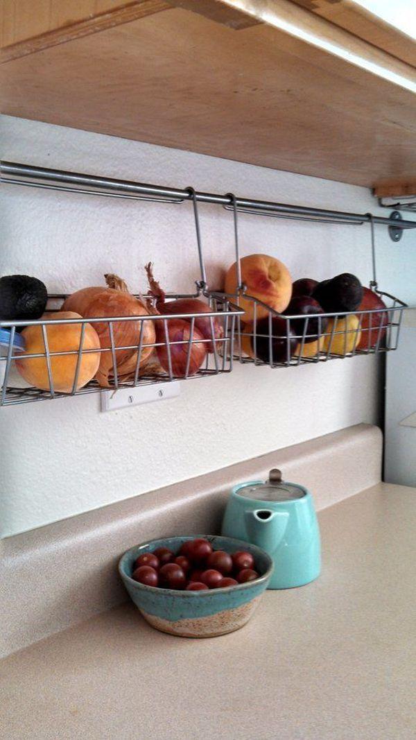 Canastas colgantes para cocina