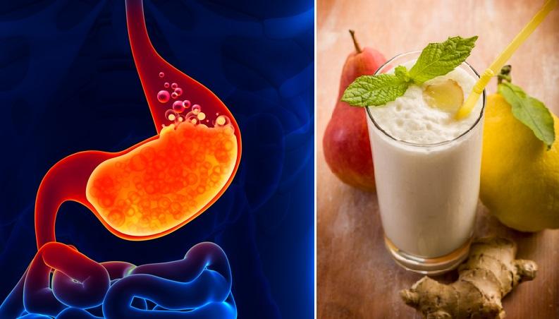 zumo natural para aliviar la indigestión