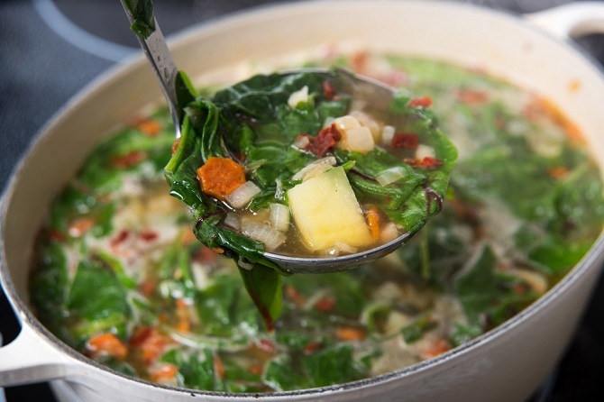 sopa para quemar calorías