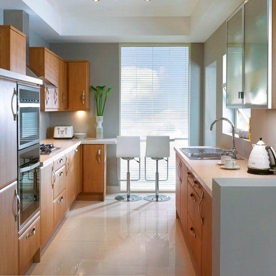 cocinas pequeñas muebles de frente