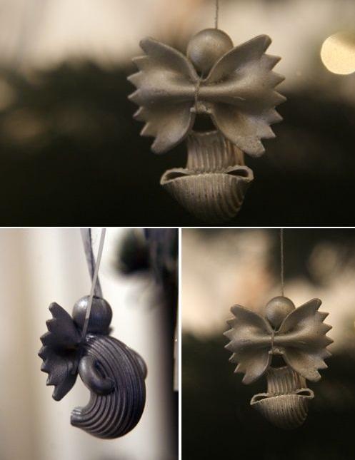 angeles hechos de pasta para estas manualidadpara decorar esta navidad