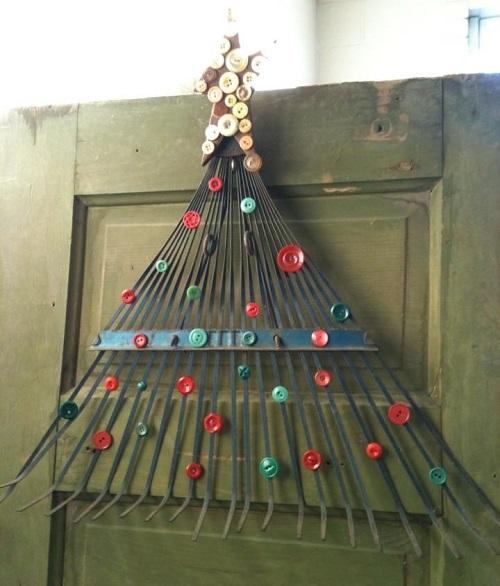 arbol de navidad de rastrillo
