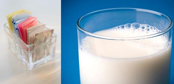 estómago hinchado por lácteos