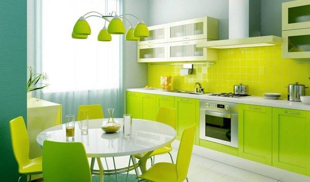 cocinas modernas y pequeñas tono fluor